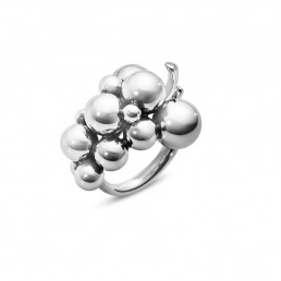 Georg Jensen Moonlight Grapes ring, sølv - mellem model