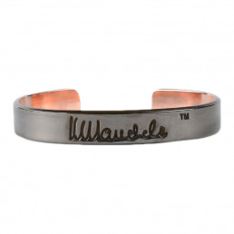 Mandela Signatur bangle sort kobber. -incl. porto på 80,-
